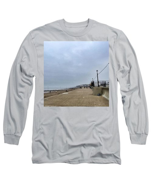 Hunstanton At 4pm Yesterday As The Long Sleeve T-Shirt by John Edwards
