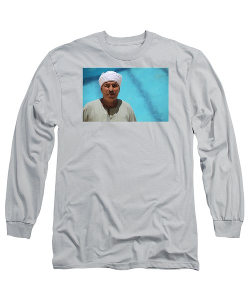 Long Sleeve T-Shirt featuring the photograph I Am The Pool Man by Jez C Self