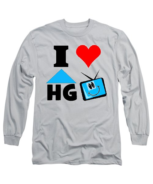 Long Sleeve T-Shirt featuring the drawing I Love Hgtv T-shirt by Kathy Kelly