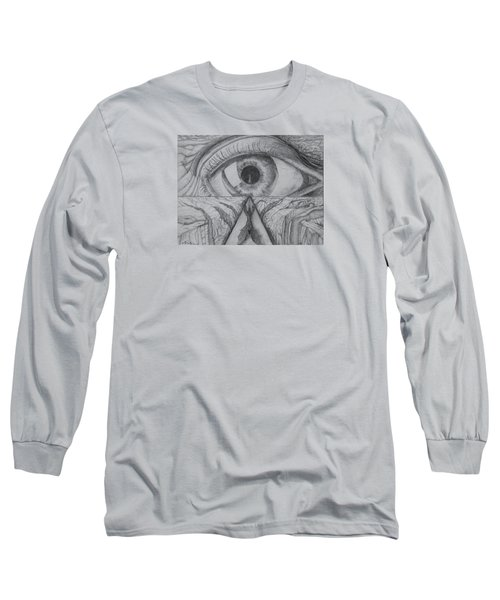 Long Sleeve T-Shirt featuring the drawing I Shadow by Charles Bates