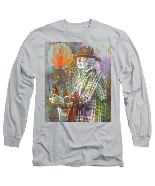 I Wanna Live, I Wanna Give Long Sleeve T-Shirt by Mal Bray