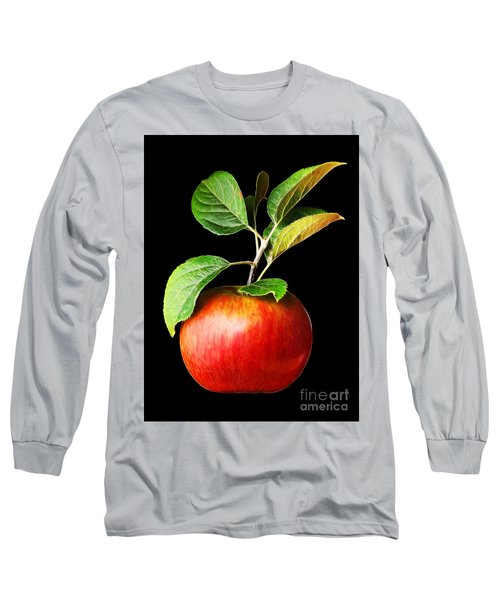 Ida Red Apple And Leaves Long Sleeve T-Shirt by Wernher Krutein