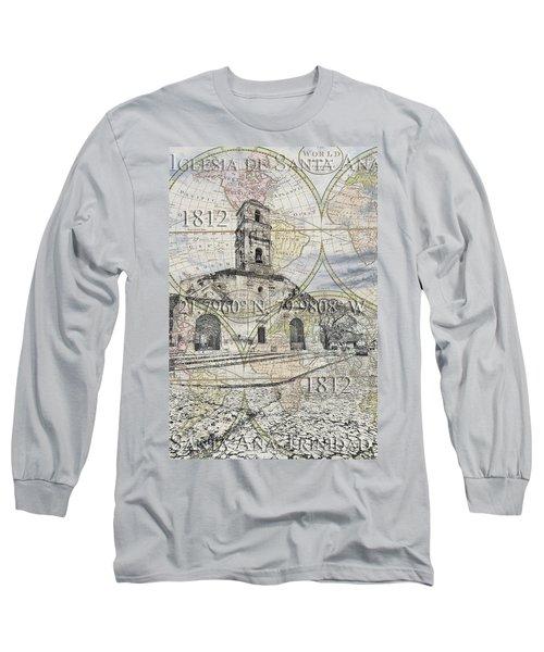 Iglesia De Santa Ana Passport Long Sleeve T-Shirt