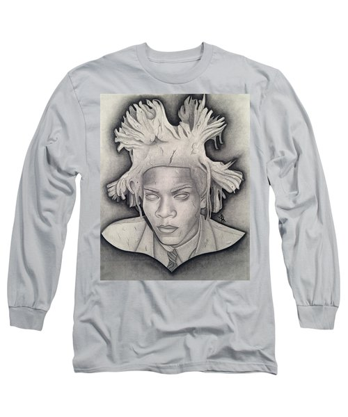 Immortalizing In Stone Jean Michel Basquiat Drawing Long Sleeve T-Shirt