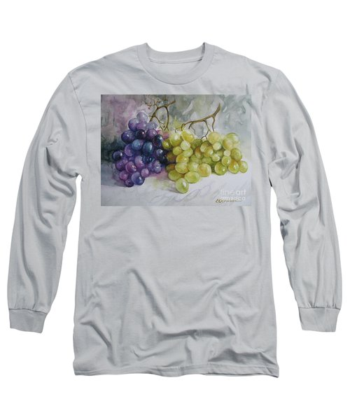 Long Sleeve T-Shirt featuring the painting In Harmony by Elena Oleniuc
