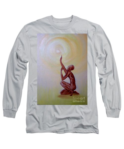 Long Sleeve T-Shirt featuring the painting In The Beginning by Marlene Book