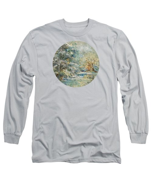 In The Snowy Silence Long Sleeve T-Shirt by Mary Wolf