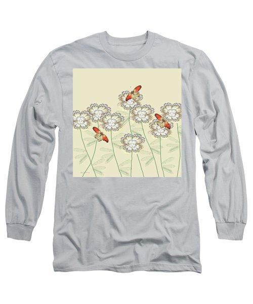 Incendia Flower Garden Long Sleeve T-Shirt by Rosalie Scanlon