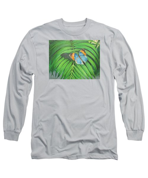 Indian Head Butterfly Long Sleeve T-Shirt by Oz Freedgood