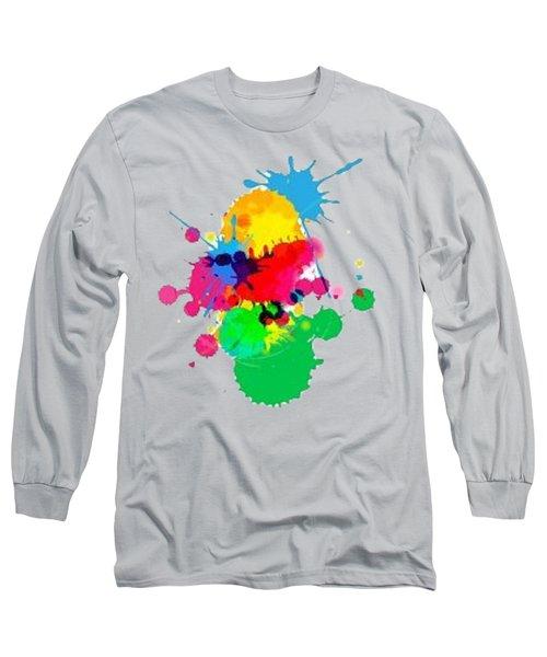 Inkblots T-shirt Long Sleeve T-Shirt by Herb Strobino