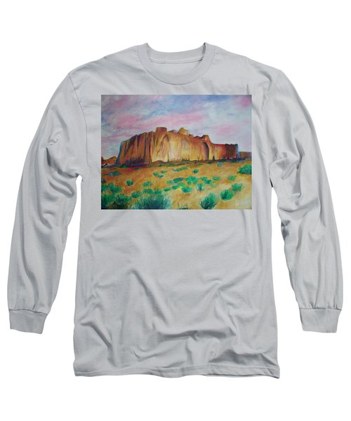 Long Sleeve T-Shirt featuring the painting Inscription Rock  by Eric  Schiabor