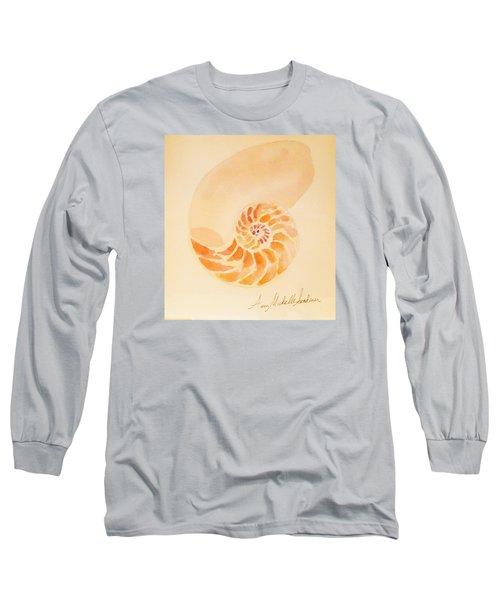 Inside Of A Nautilus Long Sleeve T-Shirt by Ann Michelle Swadener