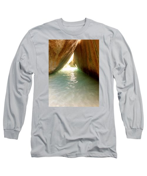 Inside The Baths On Virgin Gorda Long Sleeve T-Shirt