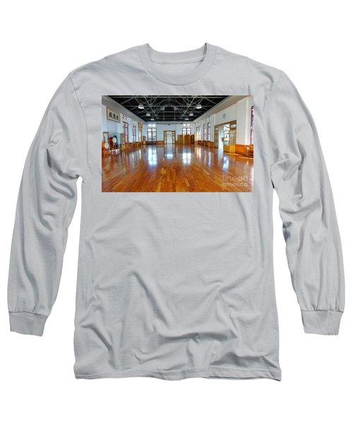 Inside The Wu De Martial Arts Hall Long Sleeve T-Shirt by Yali Shi