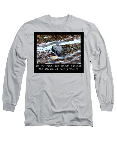 Inspirational-be The Rock Long Sleeve T-Shirt