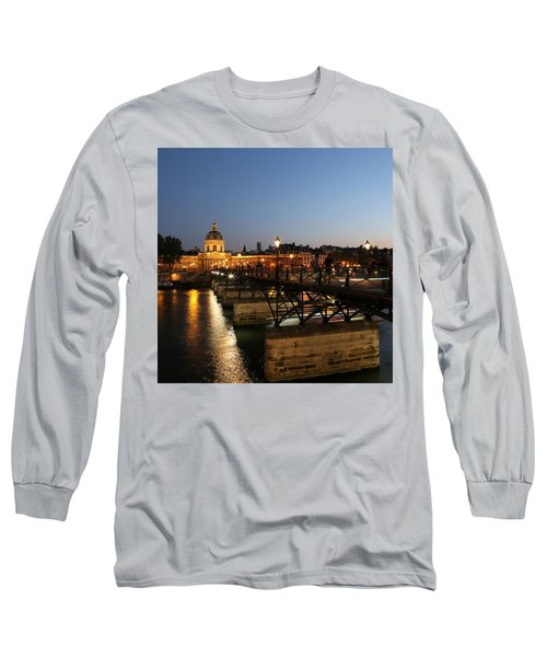 Long Sleeve T-Shirt featuring the photograph Institute Of France by Andrew Fare