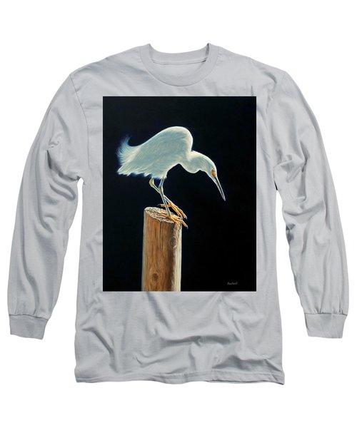 Interlude - Snowy Egret Long Sleeve T-Shirt