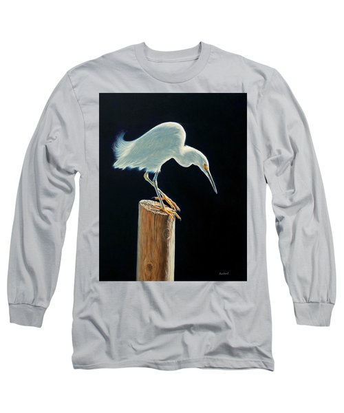 Interlude - Snowy Egret Long Sleeve T-Shirt