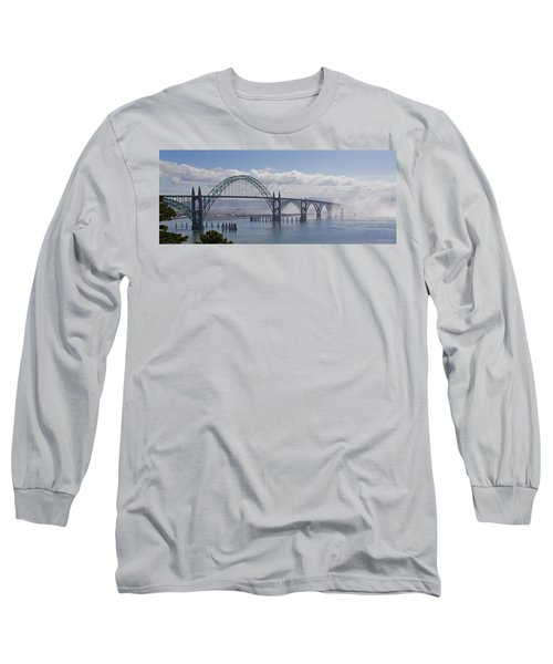 Into The Fog At Newport Long Sleeve T-Shirt by Mick Anderson
