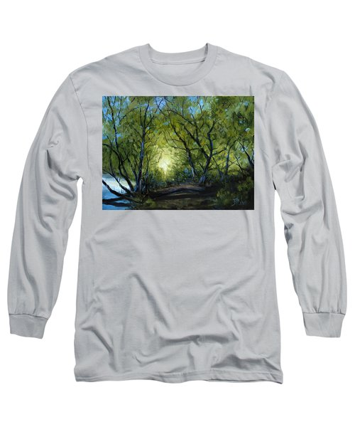 Long Sleeve T-Shirt featuring the painting Into The Light by Billie Colson