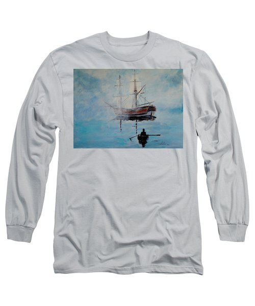 Into The Mist Long Sleeve T-Shirt by Alan Lakin