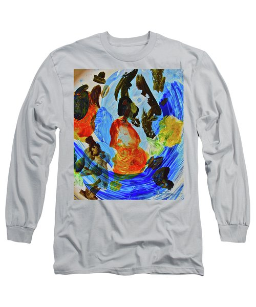 Long Sleeve T-Shirt featuring the painting Intuitive Painting  215 by Joan Reese