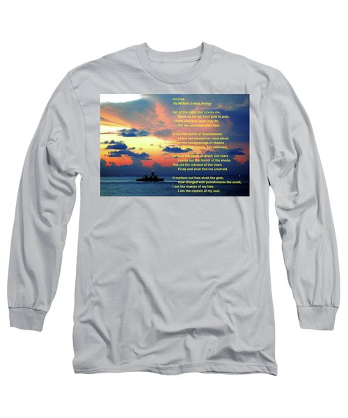 Invictus By William Ernest Henley Long Sleeve T-Shirt