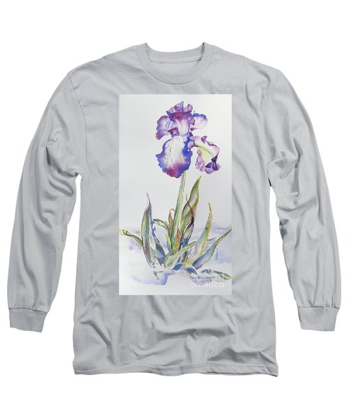 Iris Passion Long Sleeve T-Shirt by Mary Haley-Rocks