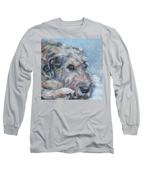 Irish Wolfhound Resting Long Sleeve T-Shirt by Lee Ann Shepard