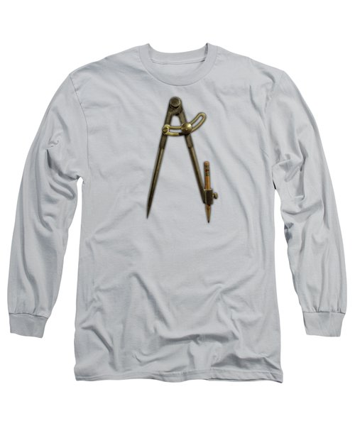 Iron Compass Long Sleeve T-Shirt by YoPedro