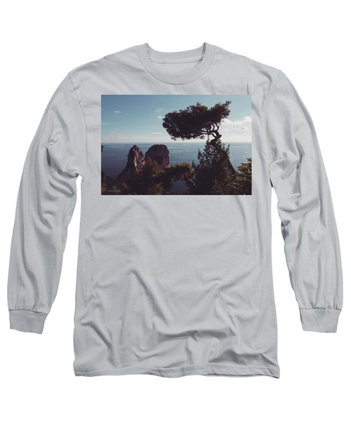 Island Of Capri - Italy Long Sleeve T-Shirt by Cesare Bargiggia