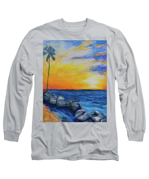 Long Sleeve T-Shirt featuring the painting Island Time by Stephen Anderson