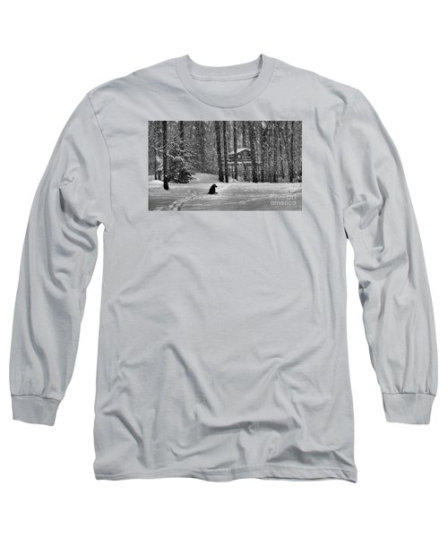 It Was A Dark And Stormy Night Long Sleeve T-Shirt by Elizabeth Dow