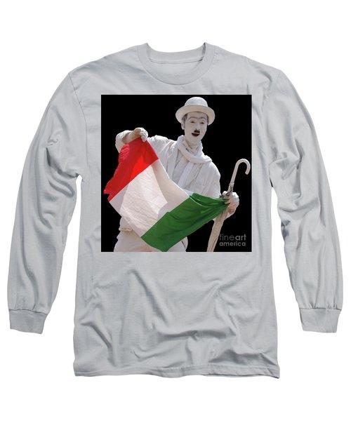 Italian Charlie Chaplin Long Sleeve T-Shirt