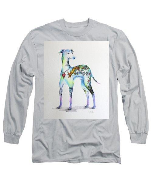 Italian Greyhound Tattoo Dog Long Sleeve T-Shirt