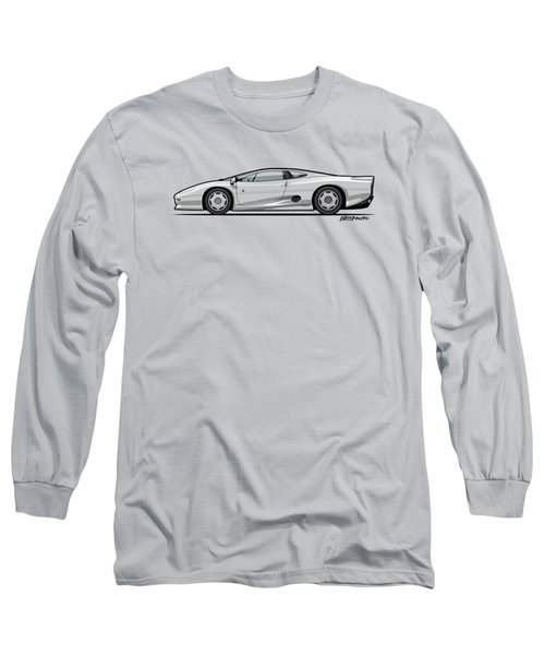 Jag Xj220 Spa Silver Long Sleeve T-Shirt