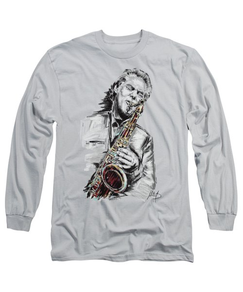Jan Garbarek Long Sleeve T-Shirt by Melanie D