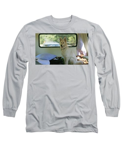 Jane Riding In The Bus Camping At Cape Lookout Long Sleeve T-Shirt