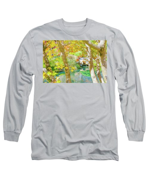 Japanese Garden Pond Long Sleeve T-Shirt