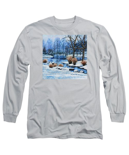 Japanese Winter Long Sleeve T-Shirt by John Lautermilch