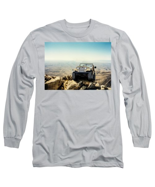 Jeep On A Mountain Long Sleeve T-Shirt