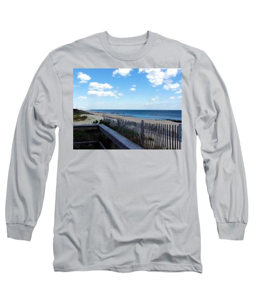 Jersey Shore Long Sleeve T-Shirt by Judi Saunders