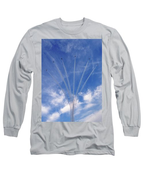 Jet Planes Formation In Sky Long Sleeve T-Shirt