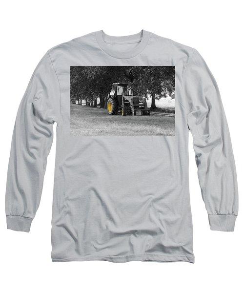 John Deere 620 In Selective Color Long Sleeve T-Shirt