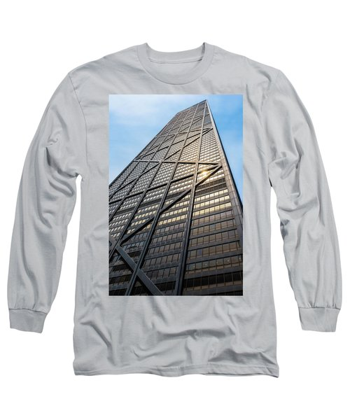 John Hancock Center Chicago Long Sleeve T-Shirt by Steve Gadomski