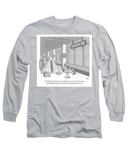 Journal Entry Six Morale Is Low Long Sleeve T-Shirt