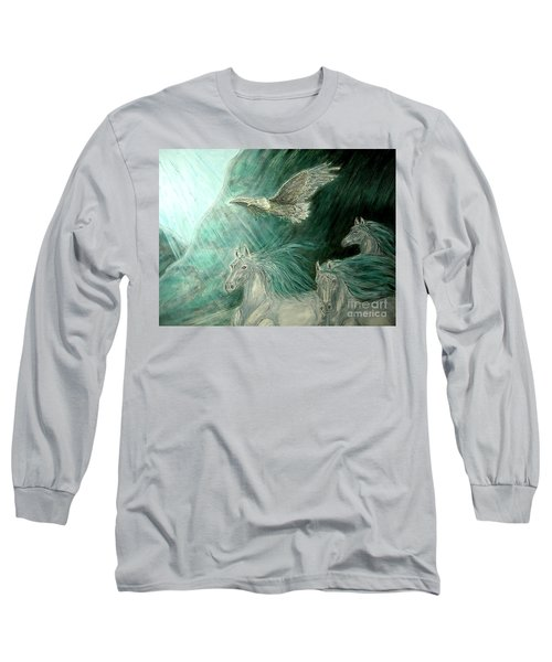 Journeyscape-out Of Darkness Long Sleeve T-Shirt by Kim Jones
