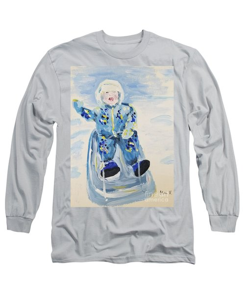 Long Sleeve T-Shirt featuring the painting Joy Ride by Maria Langgle
