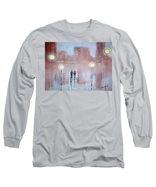 Long Sleeve T-Shirt featuring the painting Joyful Bliss by Raymond Doward