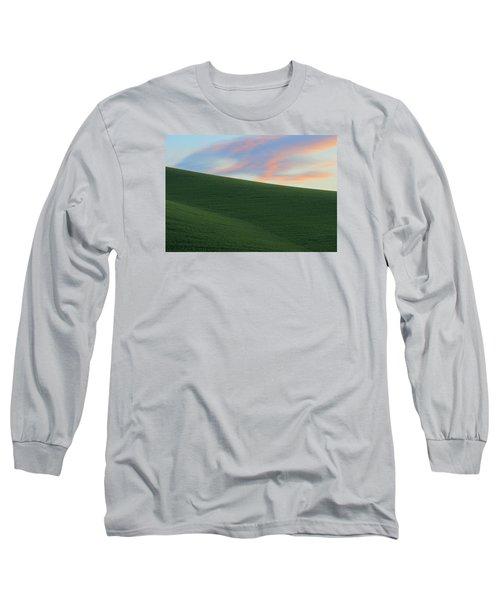 June Palouse Fields And Sky Long Sleeve T-Shirt